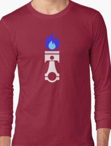 Flaming Piston (nitrous white) Long Sleeve T-Shirt