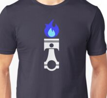 Flaming Piston (nitrous white) Unisex T-Shirt