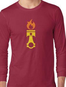 Flaming Piston (fire) Long Sleeve T-Shirt