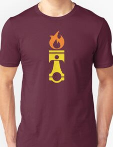 Flaming Piston (fire) Unisex T-Shirt