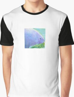 Manatee Eating 5x5 Colored Pencil Graphic T-Shirt