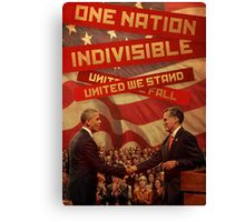 United We Stand, United We Fall Canvas Print