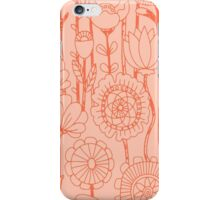 Whimsical Peach Floral iPhone Case/Skin