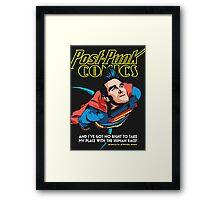 Post-Punk Comics | Super Mouth Strikes Again Framed Print