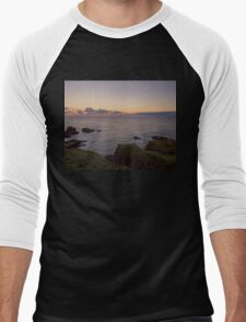 Sunset on Cruden Bay, Slains Castle - North East coast of Aberdeenshire, Scotland Men's Baseball ¾ T-Shirt