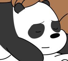 Sleeping Bare Bears - Red Sticker