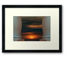 Peaceful Sunset Scene Viewpoint Framed Print