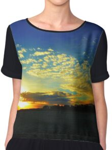 Beach Sunset Chiffon Top