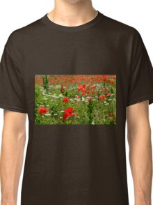 Poppy Field Near Cividale Classic T-Shirt