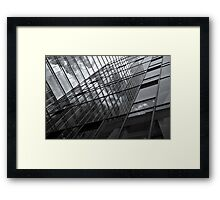 mirror facade wall Framed Print