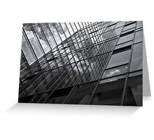 mirror facade wall Greeting Card