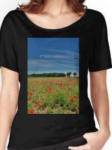 Poppy Field Near Cividale Women's Relaxed Fit T-Shirt