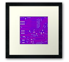 Pink Circuit Board Framed Print