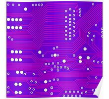 Pink Circuit Board Poster