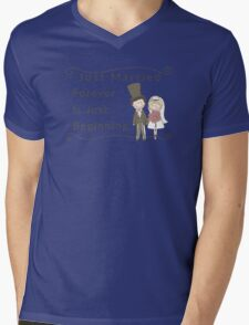 Just Married Forever Just Beginning Mens V-Neck T-Shirt