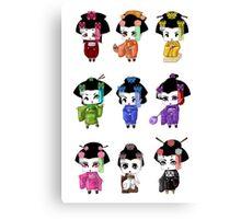 Chibi Geisha Canvas Print