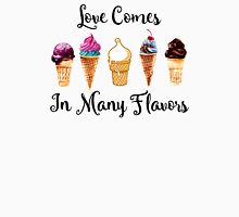 Love Comes In Many Flavors Womens Fitted T-Shirt