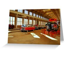 Time and Transportation Greeting Card