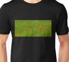 Poppies in Wheat Field Unisex T-Shirt