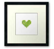 Knit Heart Framed Print