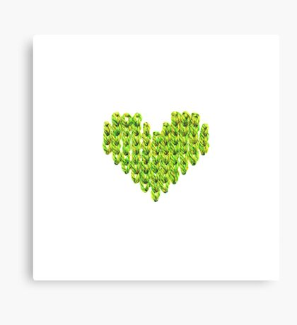 Knit Heart Canvas Print