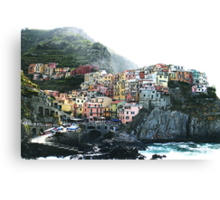 One of the villages of the Cinque Terre, Italia Canvas Print