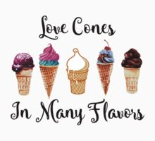 Love CoNes In Many Flavors Kids Tee