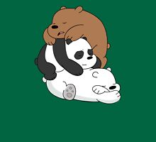 Sleeping Bare Bears - Mint Womens Fitted T-Shirt