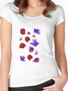 Flowers, violets Women's Fitted Scoop T-Shirt