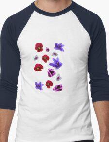 Flowers, violets Men's Baseball ¾ T-Shirt