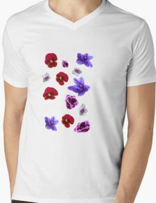 Flowers, violets Mens V-Neck T-Shirt
