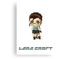 Chibi Lara Croft Canvas Print