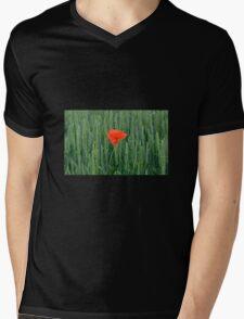 Poppy in Wheat Field Mens V-Neck T-Shirt