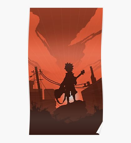 FLCL - Fooly Cooly Pixel Art Poster