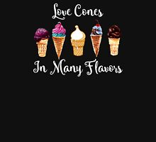 Love CoNes In Many Flavors Womens Fitted T-Shirt