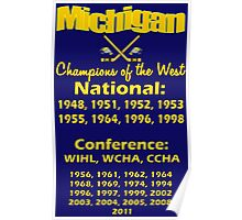 Hockey Champions of the West for Dark Colors Poster