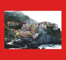 One of the villages of the Cinque Terre, Italia Kids Clothes