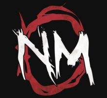 NmO Logo (Red & White) (WORKS BEST WITH BLACK) One Piece - Short Sleeve