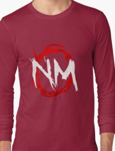 NmO Logo (Red & White) (WORKS BEST WITH BLACK) Long Sleeve T-Shirt