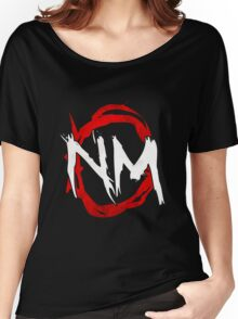 NmO Logo (Red & White) (WORKS BEST WITH BLACK) Women's Relaxed Fit T-Shirt