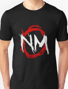 NmO Logo (Red & White) (WORKS BEST WITH BLACK) Unisex T-Shirt