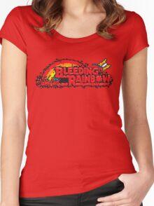 Bleeding Rainbow Women's Fitted Scoop T-Shirt