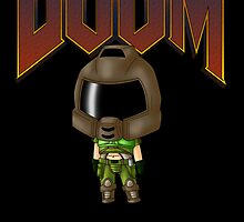 Chibi Doomguy by artwaste