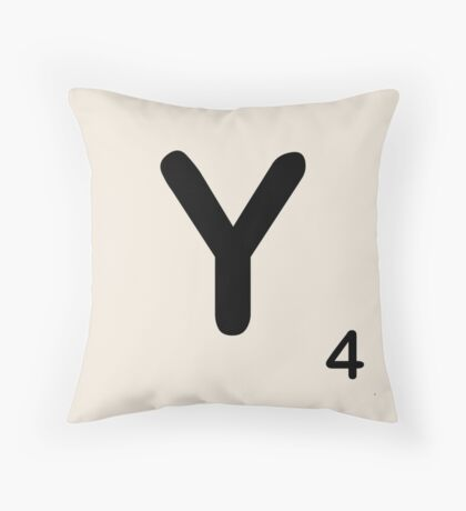 Scrabble Tile Y Throw Pillow