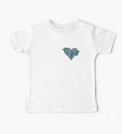 Blue Ink Heart Baby Tee