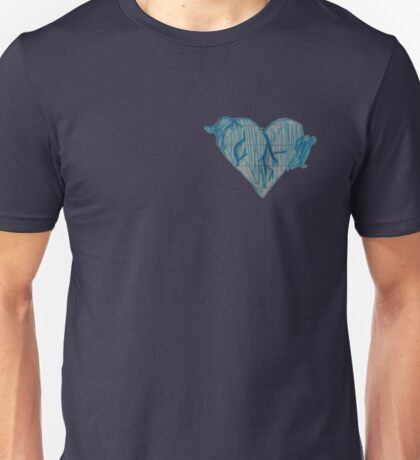 Blue Ink Heart Unisex T-Shirt