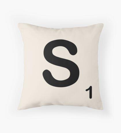 Scrabble Tile S Throw Pillow