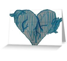 Blue Ink Heart Greeting Card