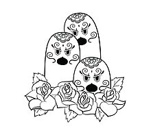 Dugtrio de los Muertos | Pokemon & Day of The Dead Mashup by abowersock