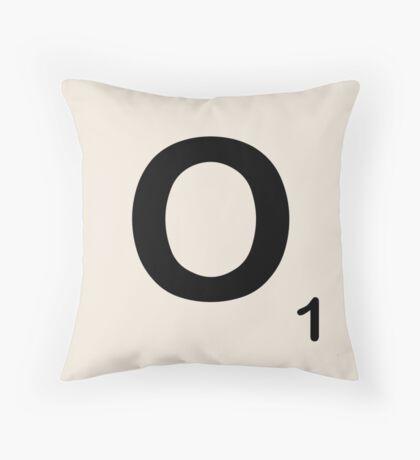 Scrabble Tile O Throw Pillow